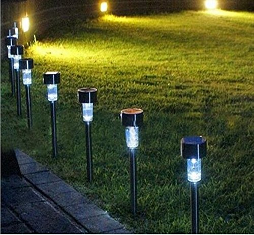 Heartte 5 Units Solar Powered Path Lights, Outdoor Garden and Lawn LED Lights. 6 Lumens of Brightness, Easy to Install, No Wires, Energy Saving (JJM-LT-CPDX5) by Heartte