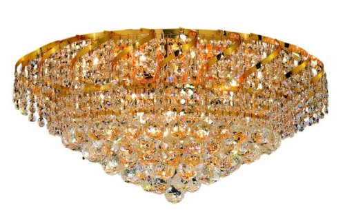 Belenus 18 Light (Elegant Lighting ECA1F26G/RC Belenus 13-Inch High 18-Light Flush Mount, Gold Finish with Crystal (Clear) Royal Cut RC Crystal)