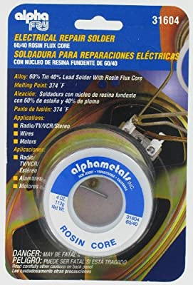 Alpha Fry AT-31604 60-40 Rosin Core Solder (4 Ounces) by AMERICAN TERMINAL SUPPLY