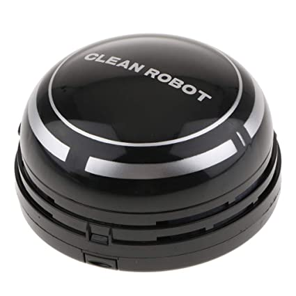 Sharplace Aspiradora con Pilas Sobremesa Limpiar Dispositivo de Inducción Diseño de Gato Lindo Automático - Negro