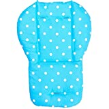 Qianle Baby Stroller Cushion Pram Padding Liner Car Seat Pad Double Side Mat Blue
