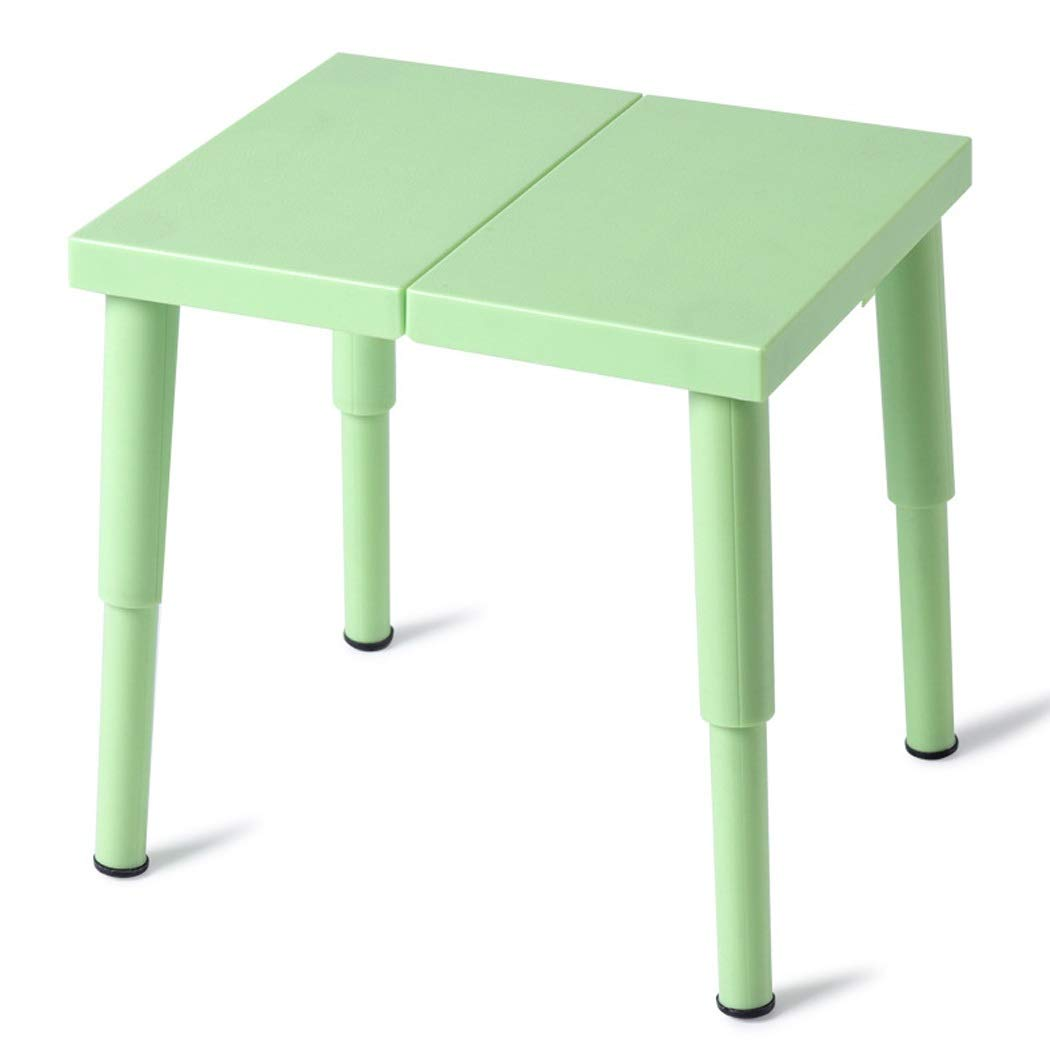 Folding Chair Plastic Folding Stool Portable Outdoor Bench Small Chair Child Adult Household Pocket Stool (Color : Green, Size : 2222cm)