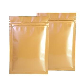 Bolsas con cierre hermético sin olor, color bronce dorado ...