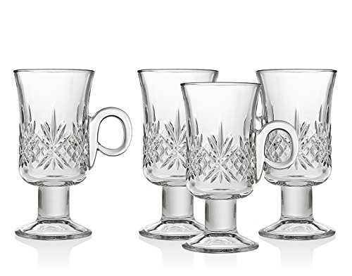 Godinger Dublin Set/4 Irish Coffee Mugs 4 Irish Coffee