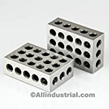 BL-123 Pair of 1'' x 2'' x 3'' Precision Steel 1-2-3 Blocks