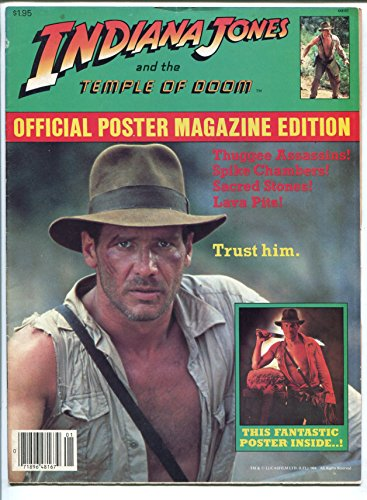 Indiana Jones And The Temple Of Doom 1984 Official Posters Harrison Ford Vg Fn