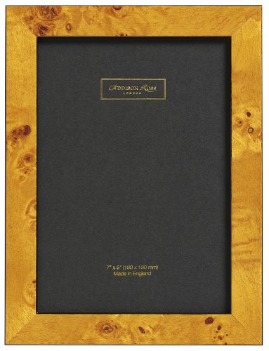 Addison Ross, Poplar Wood Veneer Photo Frame, 5x7, Honey Fiber Back, 5 x 7 Inches -