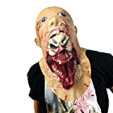 Monstleo Scary Evil Clown Mask,Double Face Latex Rubber Mask, Halloween Costume Party Mask for Masquerade/Birthday Parties,Carnival Decorations (Blood)