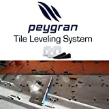 1/8'' (3mm) Peygran Economy Set of 300clips+100wedges anti lippage tile leveling system for PROs & DIYs