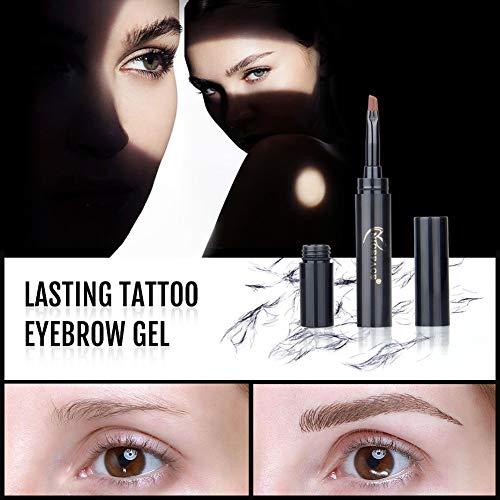 wewa98698 NICEFACE Professional 4D Eyebrow Gel Fiber Brow Growth Enhancer Cream with Brush - Black