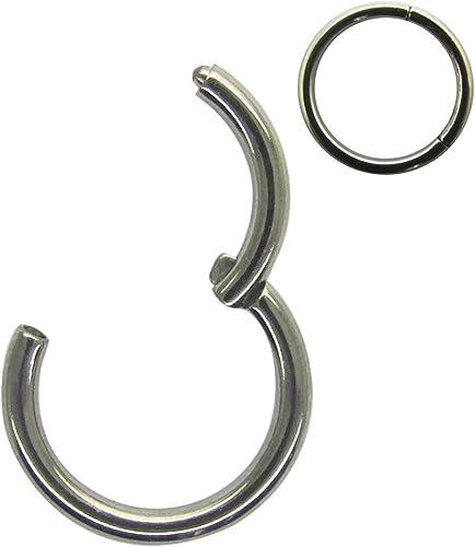 Amazon Com Newkeepsr 14g 10mm G23 Titanium Hinged Clicker Segment Ring Seamless Cartilage Earring Helix Ring Tragus Earring Lip Hoop Jewelry