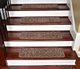 Dean Premium Stair Gripper Tape Free Non-Slip Pet Friendly DIY Carpet Stair Treads 30''x9'' (15) - Rivers Edge