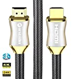 4K HDMI Cable/HDMI Cord 6ft - Ultra HD 4K Ready HDMI 2.0 (4K@60Hz 4:4:4) - High Speed 18Gbps - 28AWG Braided Cord-Ethernet/3D/HDR/ARC/CEC/HDCP 2.2/CL3 - Xbox PS4 PC HDTV by Farstrider