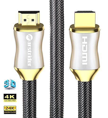 4K HDMI Cable/HDMI Cord 15ft - Ultra HD 4K Ready HDMI 2.0 (4K@60Hz 4:4:4) - High Speed 18Gbps - 28AWG Braided Cord-Ethernet /3D / ARC/CEC / HDCP 2.2 / CL3 - Xbox PS4 PC HDTV by Farstrider