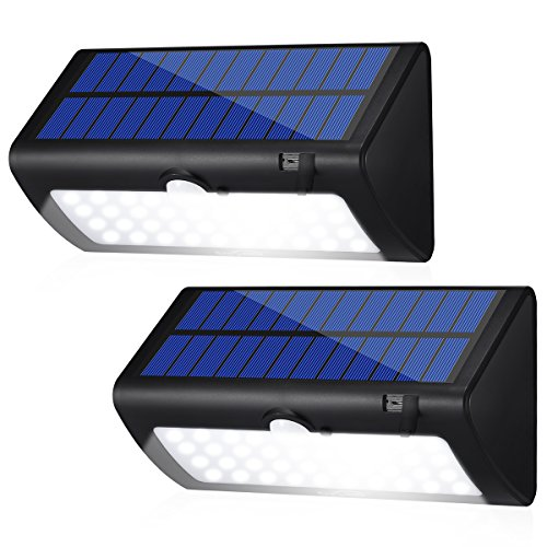 [Housmile Solar Lights 38 LED Wall Light Outdoor Security Lighting Night light with Motion Sensor Detector for Garden Back Door Step Stair Fence Deck Yard Driveway, Pack of 2] (Outdoor Wall Door)