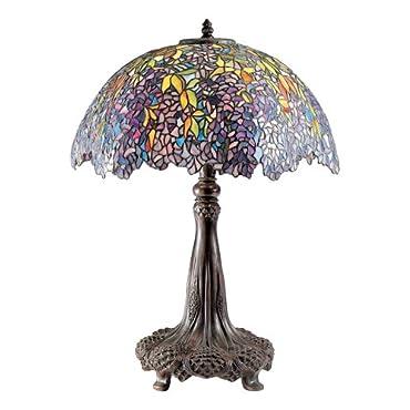 Quoizel TF6034R Laburnum Tiffany Table Lamp, Architectural Bronze