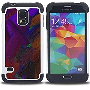 For Samsung Galaxy S5 I9600 G9009 G9008V - vibrant brown oil painting Dual Layer caso de Shell HUELGA Impacto pata de cabra con im??genes gr??ficas Steam - Funny Shop -