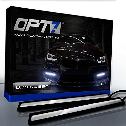 OPT7 Nova Plasma DRL Light Bars - (550 Lumens) 17cm COB Daytime Running Light (Car Racing Strips)