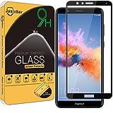 Jasinber Mica Cristal Templado Protector de Pantalla para Honor 7X / Huawei Mate SE (Negro)