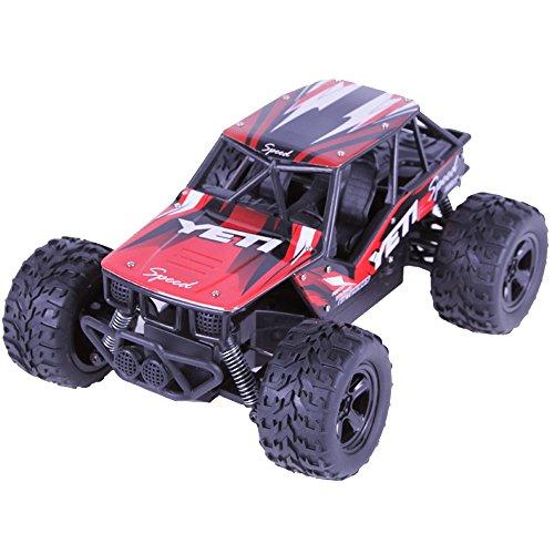 Remote Control Car, Kid Toys for Boys Girls, YJM 2018 2.4GHZ 2WD Radio Remote Control Off Road RC RTR Racing Car Truck RD
