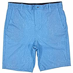 Burnside Mens Hybrid Shorts - Lightweight Quick Dry Stretch Boardshorts (34,Black)