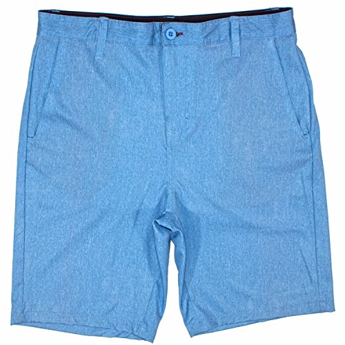 Burnside Mens Hybrid Short Lightweight Stretch Walkshort & Boardshort Blue Shadow-33