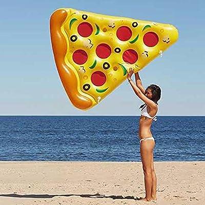 Flotador Inflable De La Piscina De La Pizza 6 X 5 Pies De La Pizza Inflable Gigante del PVC, Balsas Flotantes De La Piscina Al Aire Libre Enorme 72