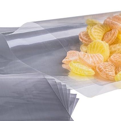 x50 (11.4cmX17.8cm) Cellophane Cellophane Poly Sac Transparents Pour  Bonbons Gâteau Pop b651f5f7688d