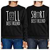 365 Printing Tall Short Cup BFF Matching Sweatshirts Gift For Best Friends Gifts (Left- XS/Right- XS)