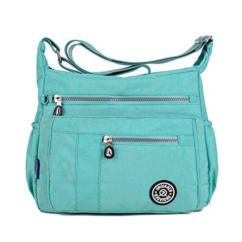 With Pockets Nylon Green Shoulder Cross Bag Lightweight Zipper Tianhengyi Casual Messenger body Womens A4qxanSwz