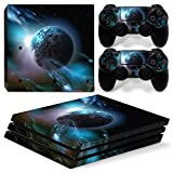 CSBC Skins Sony PS4 Pro Design Foils Faceplate Set - Planet Design