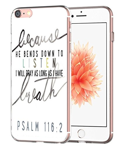 Case for 7 Bible Verses Psalms - Case for 8 - Topgraph [Exact Slim Fit Clear with Design Full Coverage] Bumper Compatible for iPhone 8/7 [Christian Songs]