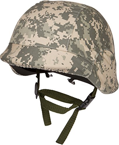 Modern Warrior Tactical M88 ABS Tactical Helmet with Adjustable Chin Strap, Digital Camo]()