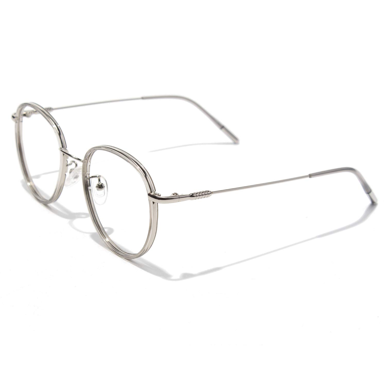 CGID Retro Round Eyewear Frames Metal TR90 Frame 2019 New Fashion Non Prescription Glasses for Men and Women