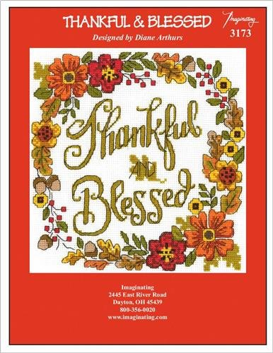 Thankful /& Blessed Chart 3173 Cross Stitch Chart and Free Embellishment