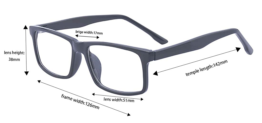 939f7b41c2 Amazon.com  Outray Fashion Classic Unisex Squared Clear Lens Non  Prescription Eye Glasses  Clothing