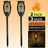Cheap Solar Lights Outdoor Upgraded,Flickering Flame Torches Lantern Lights Solar Spotlights Waterproof Landscape Lighting Dusk to Dawn Indoor Outdoor Wall Solar Lights for Garden Yard Path Patio (2-Pack)
