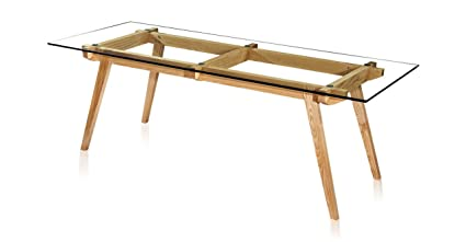 Amazoncom Kardiel Sticotti MidCentury Modern Dining Table Ash - Glass top mid century dining table