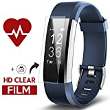 Fitness Tracker - Kinbom Heart Rate Monitor Smart Watch With Sleep Monitor - Step Counter - GPS - Message Notification - Bluetooth 4.0 - IP67 Waterproof Activity Tracker for Android&iOS Smart Phone (Blue)