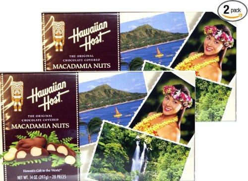 Hawaiian Host Aloha Macs Milk Chocolate Macadamia Nuts (7 ounce box, 14 pieces) (2 Boxes)