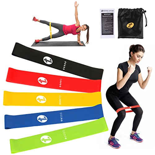 TOP-LUS Resistance Bands, 5 Pack Loops Exercise Resistance Bands for Home Workout, Pilates, Yoga, Rehab, Physical Therapy with Carry Bag and Instructional Booklet Review