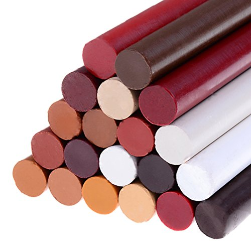 LIGONG 20Pcs Repair Touch-Up Crayon Kit Wood Furniture, Floor Filler Repair Stick Repair Wax Crayon Scratch Patch Paint Pens Sticks
