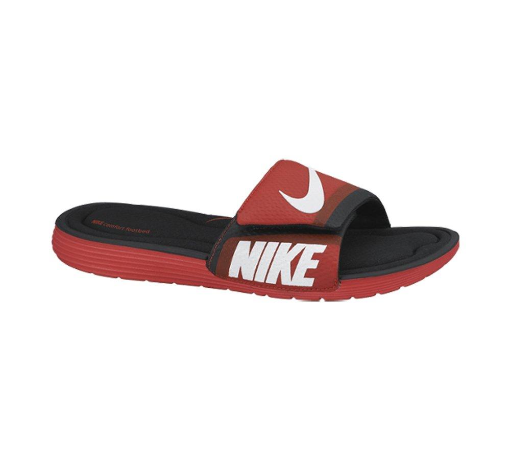 Nike Solarsoft de la Hombres Comodidad Slide Sandal 7 D(M) US|Challenge Red/White-black