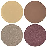Date Night Collection Eyeshadow Quad: 4 Single Eye Shadows Makeup Magnetic Refill Pan 26mm, Paraben Free, Gluten Free, Made in the USA