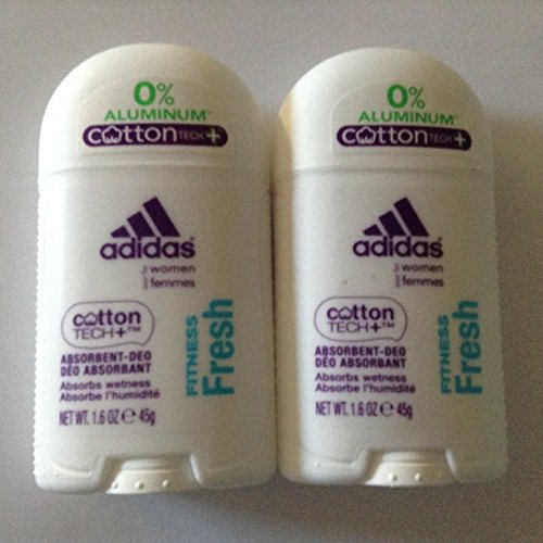 2 Pack-Adidas Deodorant for Women Fitness Fresh Cotton Tech+ Absorbent (Womens Adidas Anti Perspirant)
