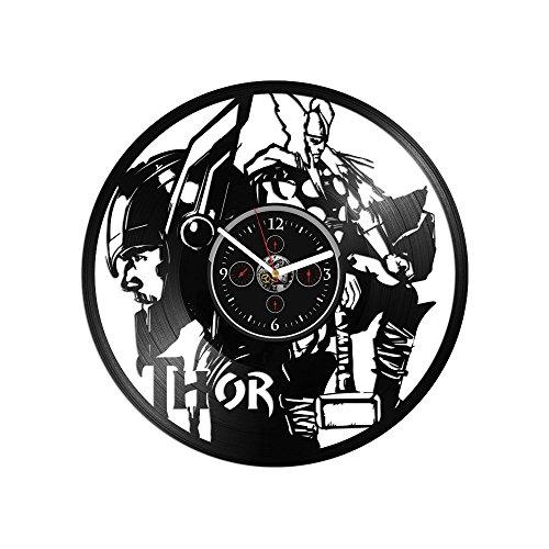 - RainbowClocks Thor Vinyl Clock Thor Gift Avengers Clock Vinyl Record Wall Clock Thor Clock Wall Clock Large Thor Wall Clock Marvel Comics Clock Thor Gift 12 inch Clock Gift For Kids