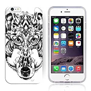 Animal Art Illustration Pattern HD Durable Hard Plastic Case Cover for iphone 4 4s