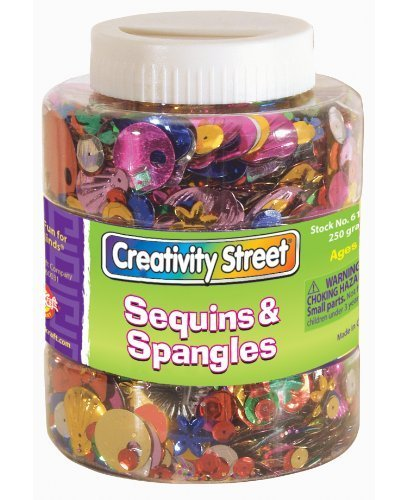 Chenille Kraft Sequins and Spangles Shaker Jar by Chenille Kraft
