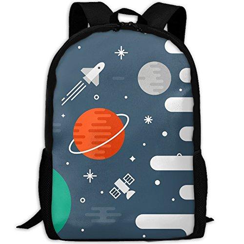 3D Spacecraft Space Logo Unisex Backpack Lightweight Laptop Bags Shoulder Bag School Bookbag - Apps Reflecting For Pictures