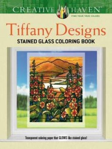 Creative Haven Tiffany Designs Stained Glass Coloring Book ...